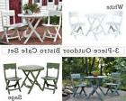 3 Piece Quick Fold Sage Cafe Resin Plastic Outdoor Bistro Se
