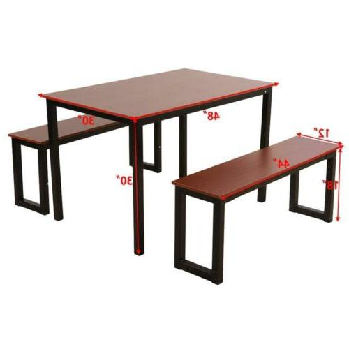Dining Room and Chairs 2pcs Kitchen Black/Brown