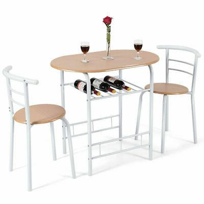 3 piece dining set table 2 chairs