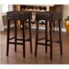 "Bowery Hill 30"" Woven Bar Stool in Brown"