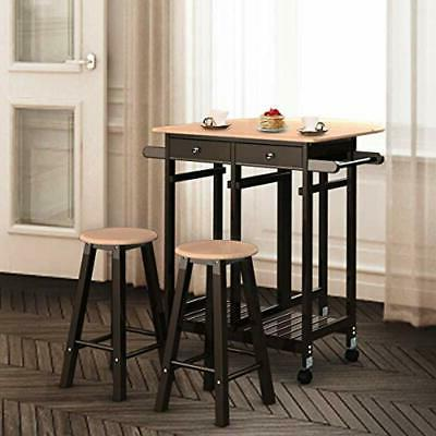 Casters Fold Leaf With Stools