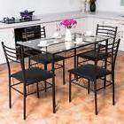 Dining Table Set For 4 Glass Top With Chairs Breakfast 5 Pie