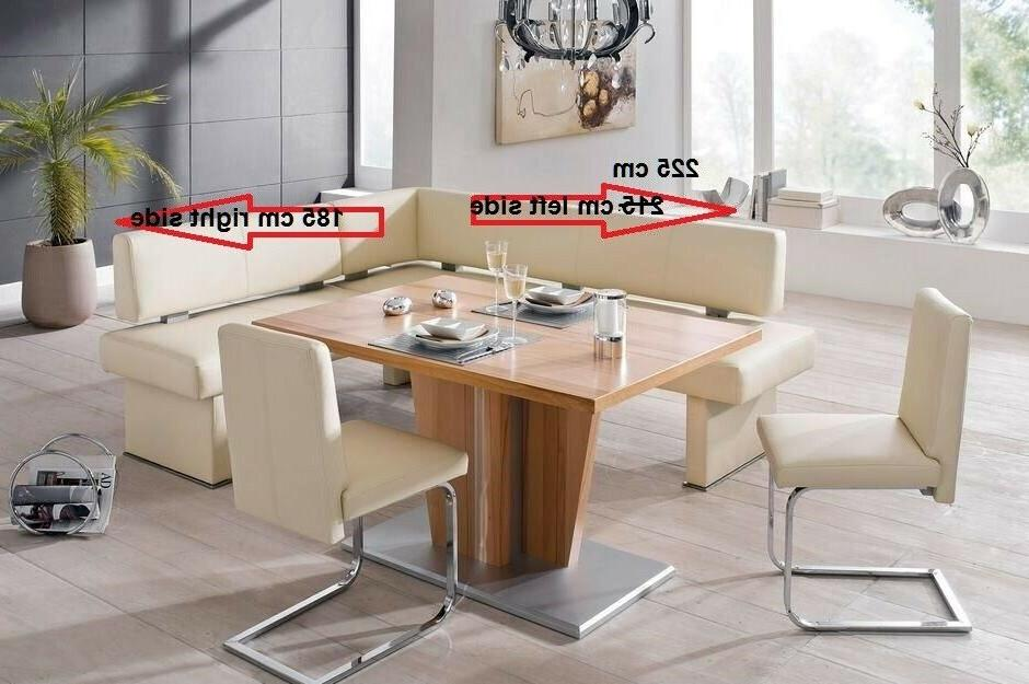 4 pc leather breakfast nook dining set
