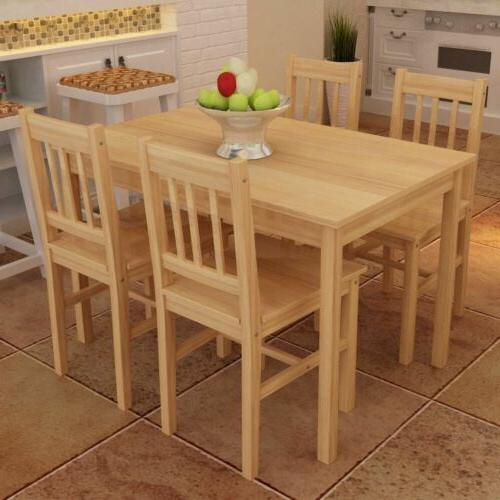 4 pcs dining set 4 chairs table