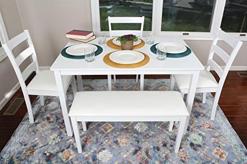 4 - Piece Dining Set 1 Table, 3 Chairs 1 Bench