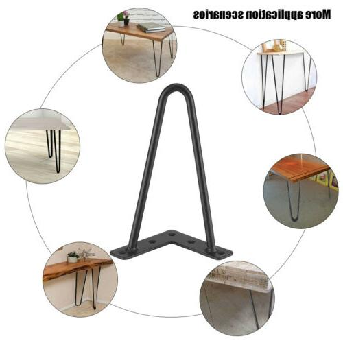 4x Iron Hairpin Table Legs Laptop Dining Table