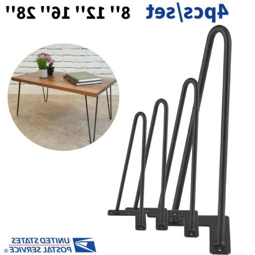 4x 8 28 solid iron hairpin table