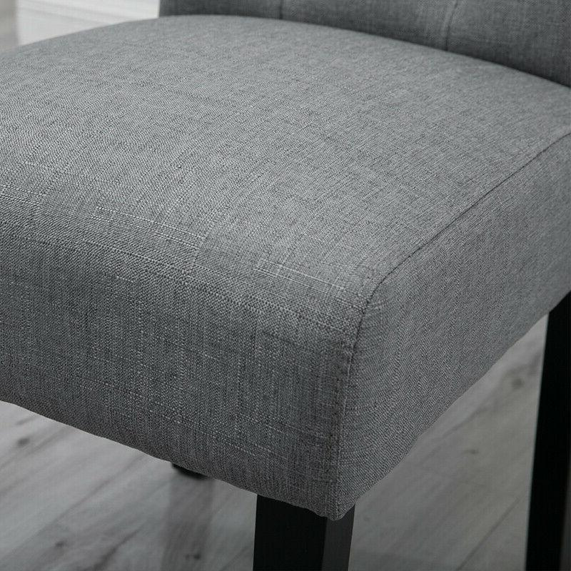 4x Gray Dining High Button Tufted Dining New