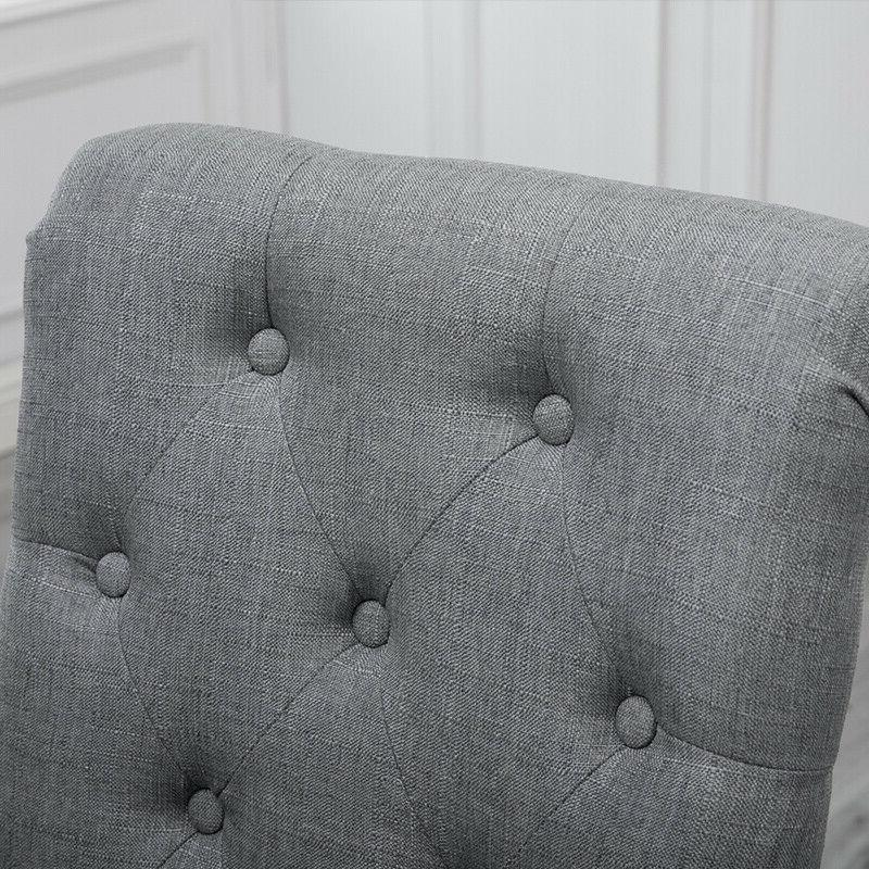 4x High Back Upholstered Button Tufted Dining New