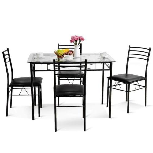 5 Pcs Dining & Upholstered Chairs Home US