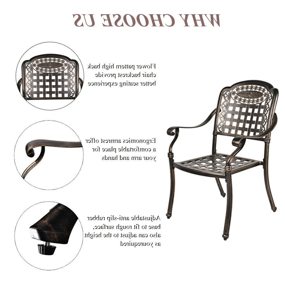 5-Piece Aluminum Dining Outdoor Dining Set Table Chairs