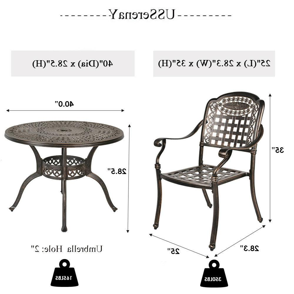 5-Piece Aluminum Dining Set with and Chairs