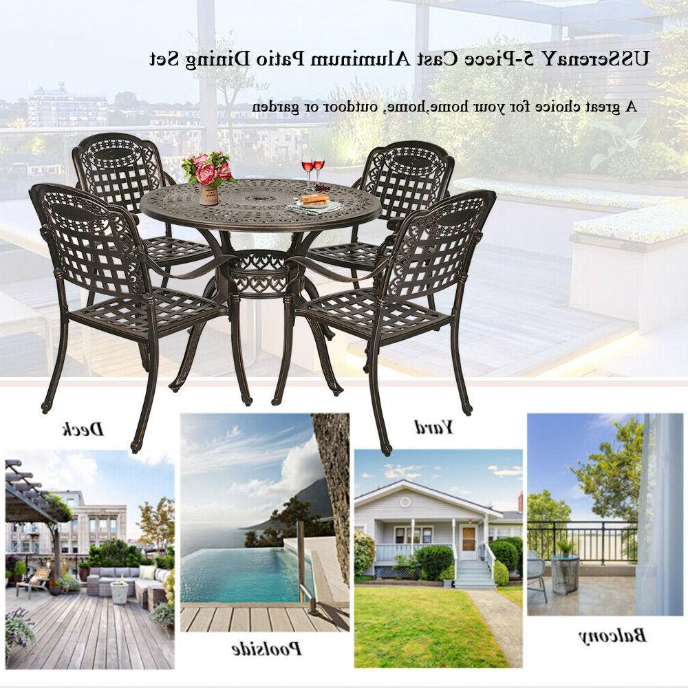 5-Piece Dining Set with Table Chairs