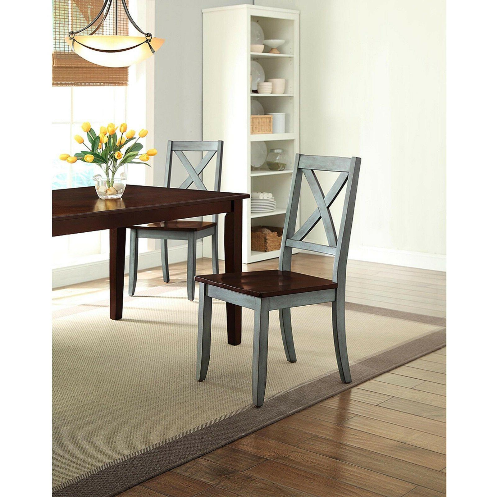 5 Piece Dining Set Kitchen Table Chairs Mocha