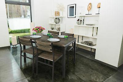Zenvida 5 Set / Breakfast Nook, Table Rustic