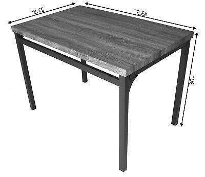 Zenvida 5 Set Breakfast Nook, Table Rustic