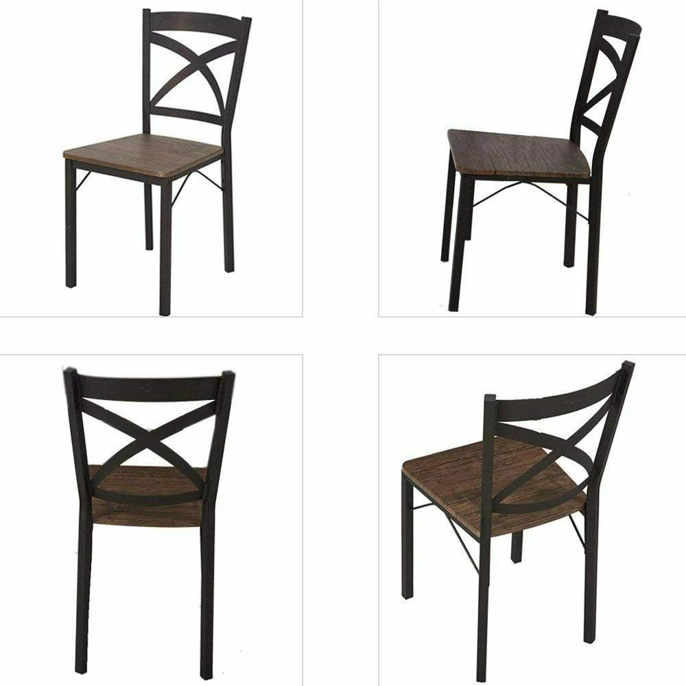 5-Piece Industrial Style Wooden and