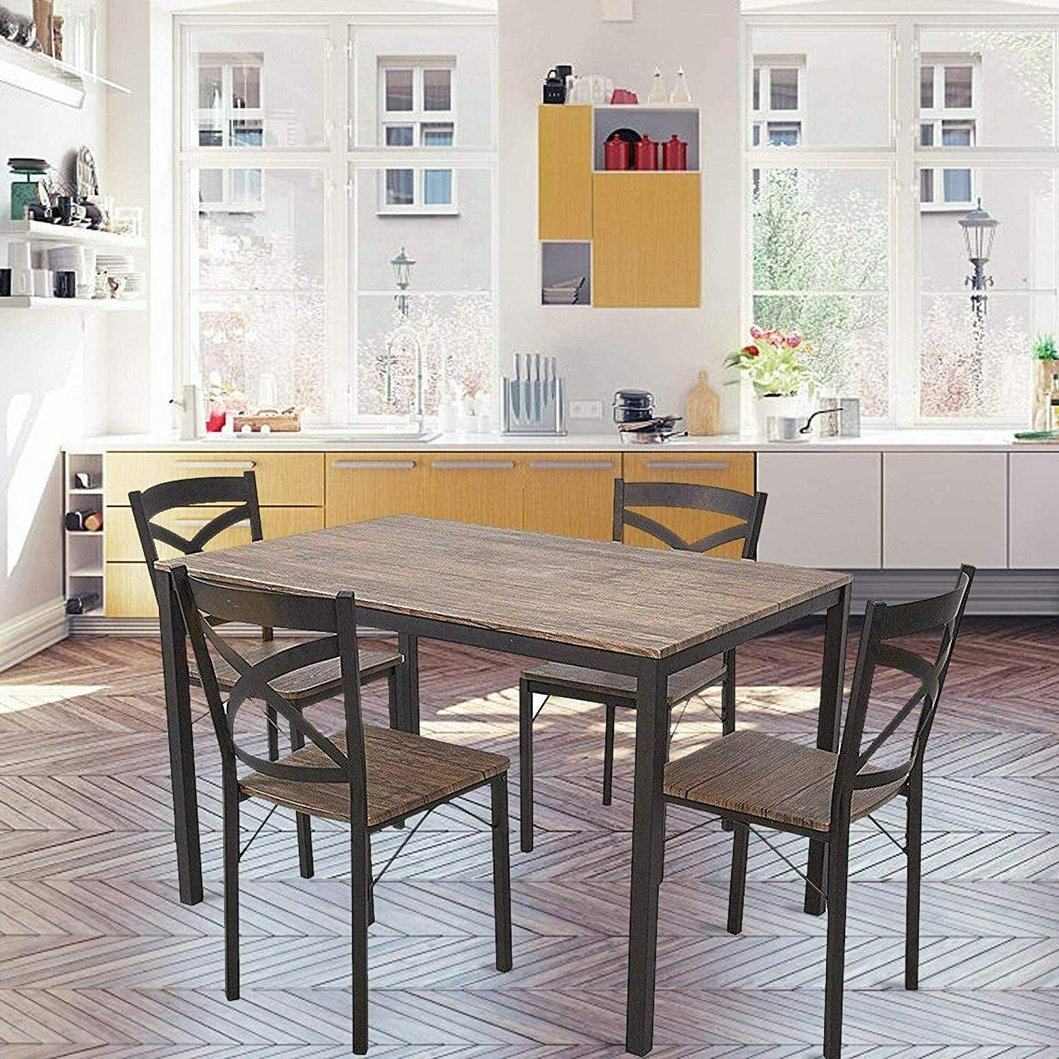 5-Piece Industrial Style Kitchen Table and