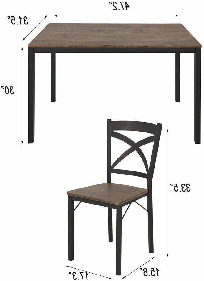 5-Piece Style Kitchen Table and Espresso