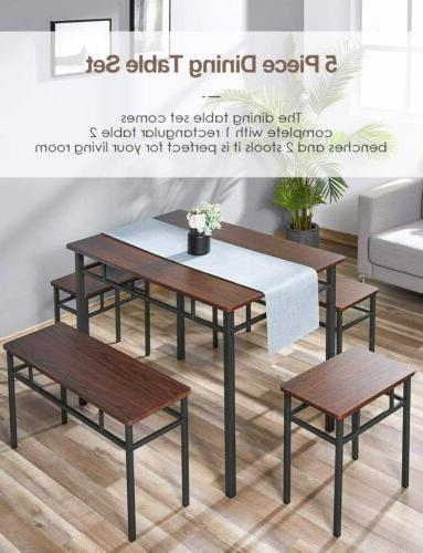 5 Furniture with bench 43.3''L