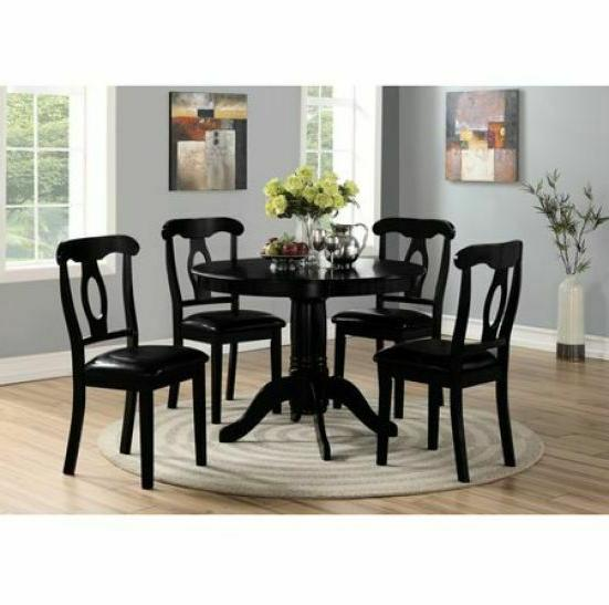 5 piece dining set pedestal round table