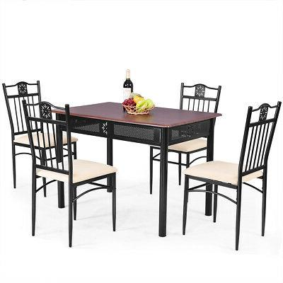 5 Wood Table and 4 Kitchen Furniture