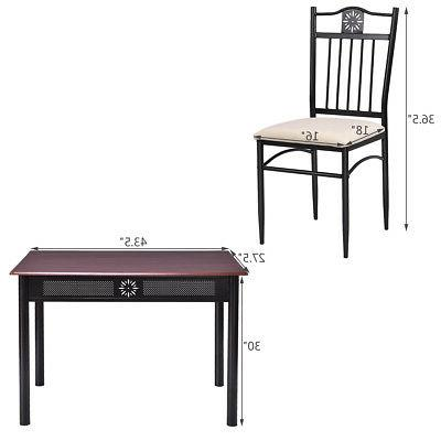 5 Dining Wood Metal and 4 Breakfast Furniture New