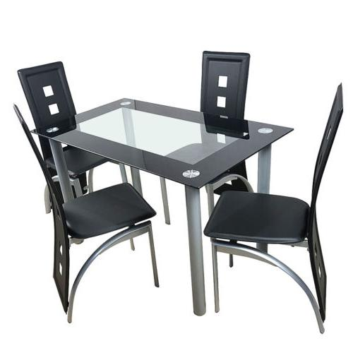 5 Piece Dining Table Chairs Kitchen Furniture