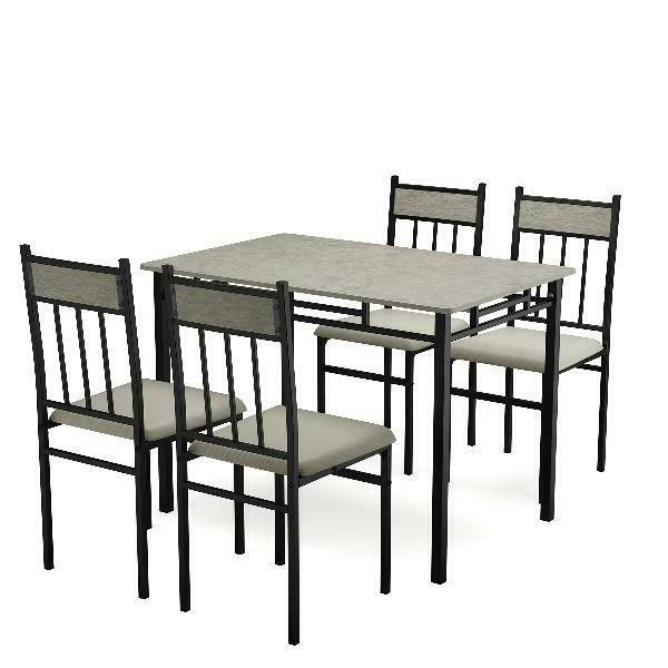 Costway 5 Piece Marble Dining And Kitchen Breakfast Furn