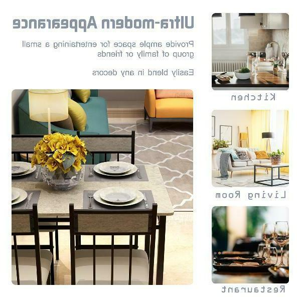 Costway Marble Set And Kitchen Breakfast