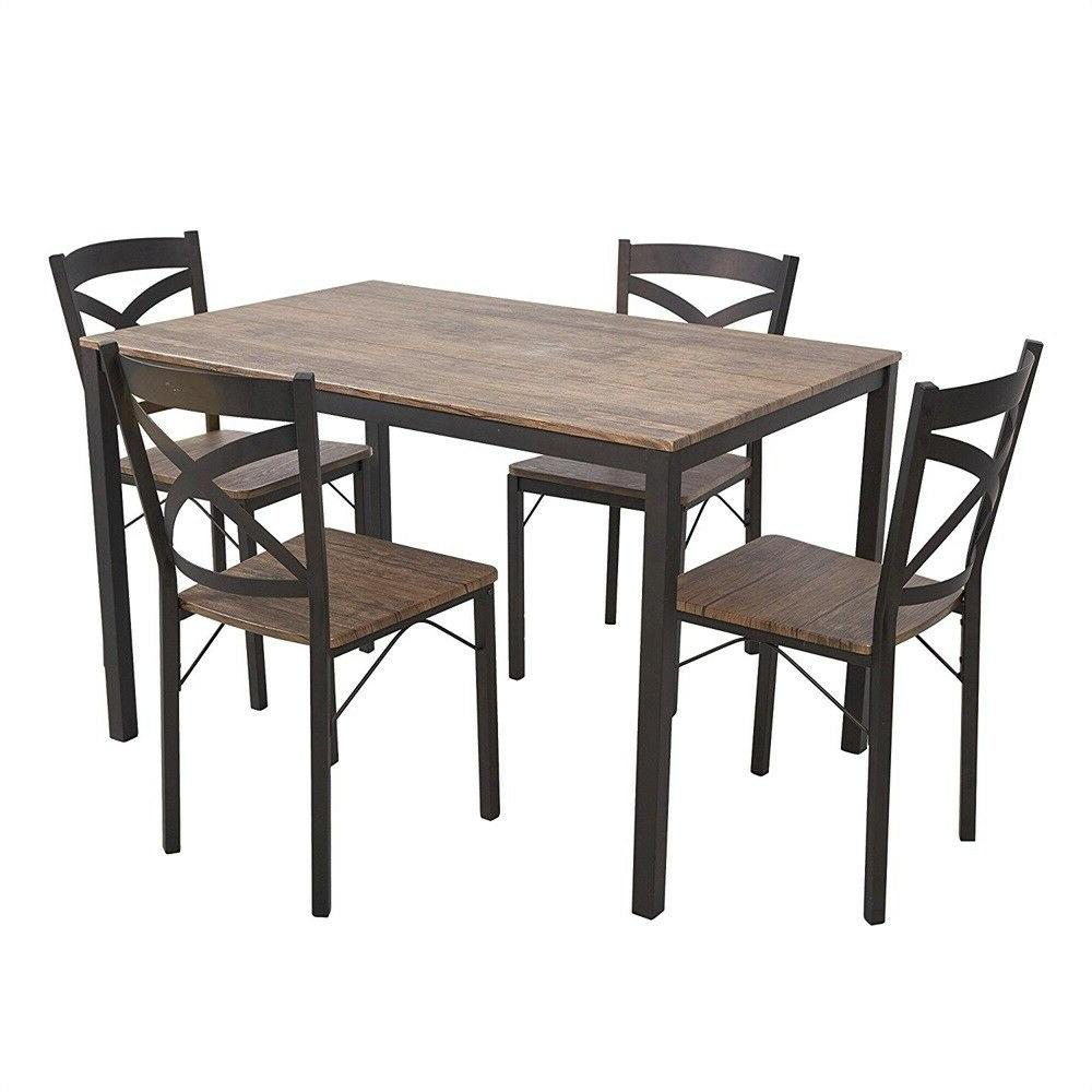 5-piece Kitchen Breakfast Table W/ of 4 Chairs