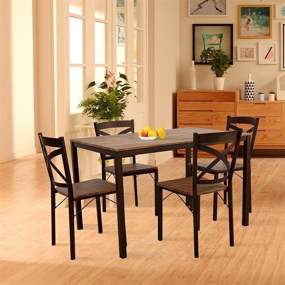 5-piece Furniture Set,Solid Breakfast of Chairs
