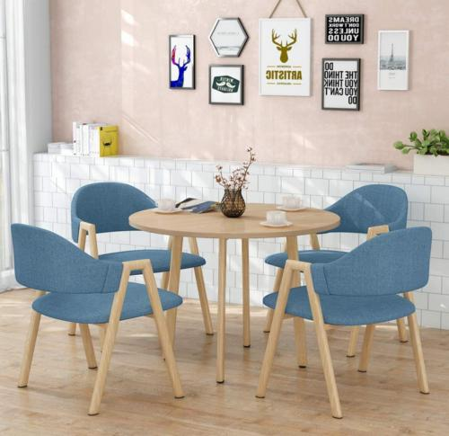 Modern Home Round Style Kitchen Dining Table set 1pcs Table
