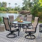 5 Piece Sling Padded Swivel Rocker Seating Patio Dining Set