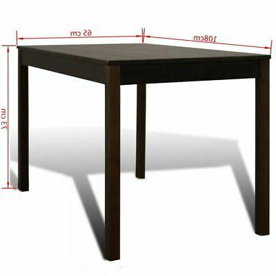 Wooden Table with Kitchen Dining Room Brown