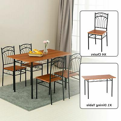 5 Pieces Dining Set w/ Room &