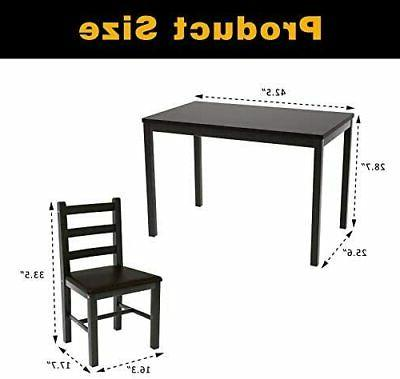 5 Kitchen Table Set Table 4 PU Leather Chairs
