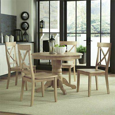 Home Styles 5170-308 Classic 5-Piece Dining Set In White Was