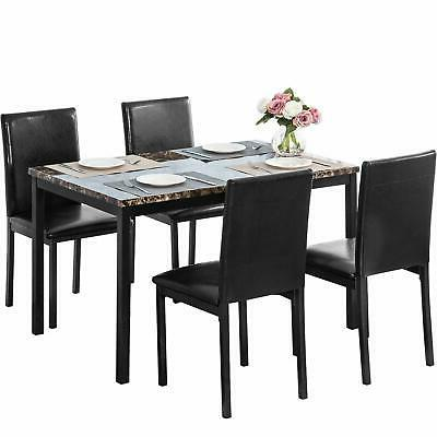 5pc Dining Faux Marble