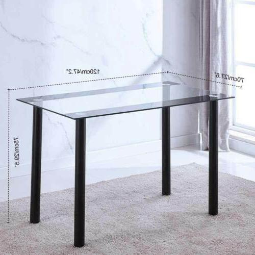 5PC Table Chair Metal Frame