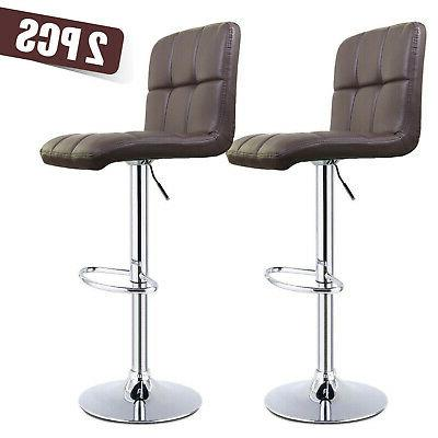 5pc set dining glass table chair leather