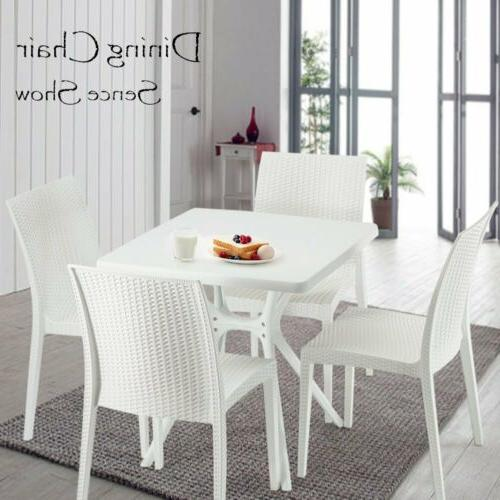 5pcs dining set white table and 4