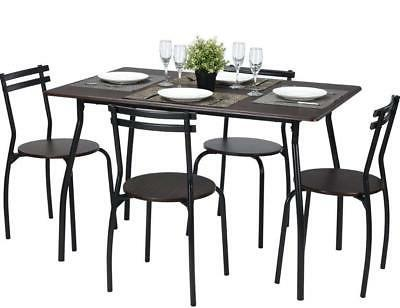 Coavas 5pcs Dining Table Set Kitchen Furniture Kitchen Table
