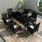 Rattan Dining Table and Chairs Set for 6 Persons Outdoor Pat
