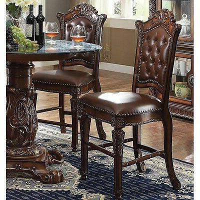Acme Vendome Collection Dining Chair in Cherry Finish, Set o