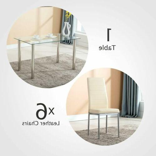 7 Dining Set Faux