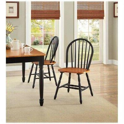 7 Piece Dining Table & Chairs Farmhouse Country Wood Furniture