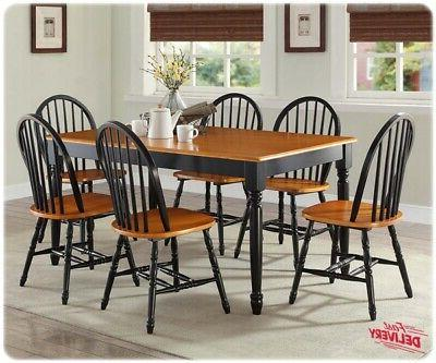 7 piece dining room table and chairs
