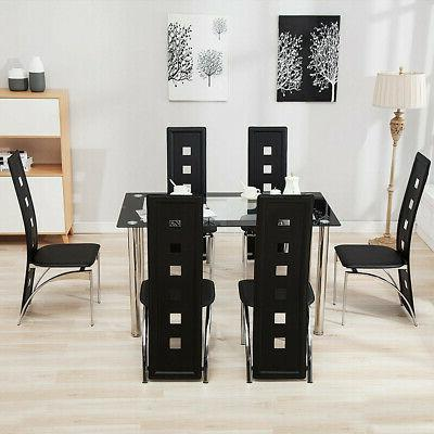 7 Piece Table Set Chairs Furniture