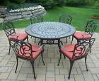 Dining Set 7 Piece Round Table Cushioned Chairs Patio Backya
